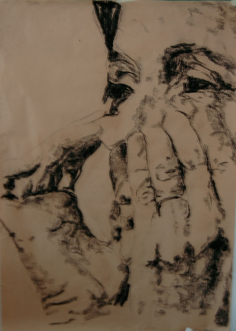 Untitled, 2012 charcoal on kraft, 100 cm x 140 cm