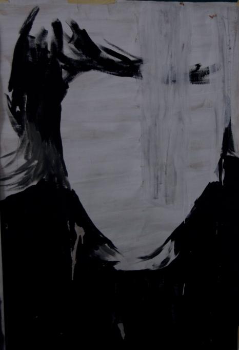 Untitled, 2012, Wall paint on kraft, 100 cm x 140 cm