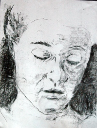 Self-portrait, 2012, Charcoal on paper, A2