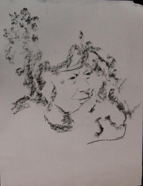 Untitled, 2012, Charcoal on paper, A2