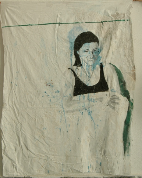 Untitled, 2013, wall paint on fabric, 180 cm x 150 cm