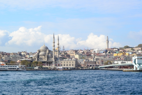 Galata Bridge and New mosque Istanbul